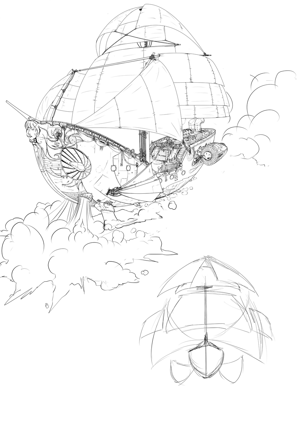 SteamPunkBoat_v0.5_By_Tomatecannibal by tomatecannibal