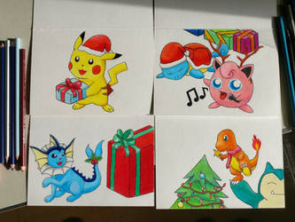 Pokemon Holiday Cards