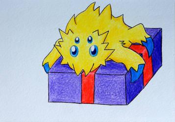 Pokemon Christmas Holiday Card - Joltik
