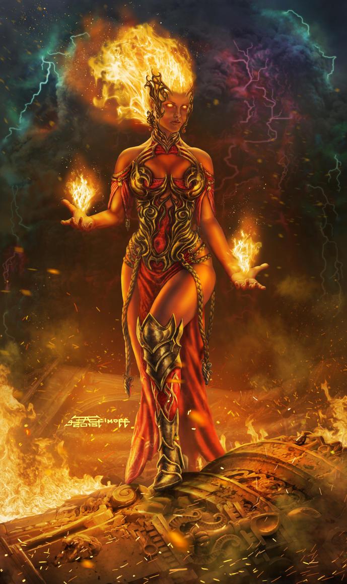 Red Mage-arsonist. by EdiktArt