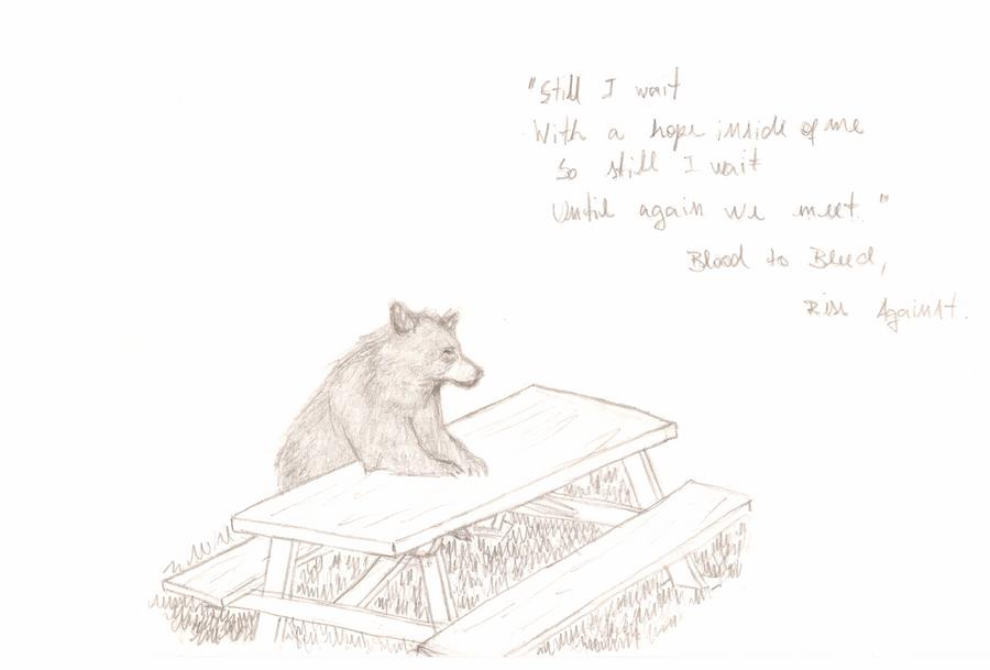 Bear Waiting by ABlanchard