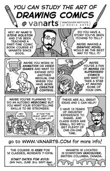 VanArts Comic Book Class with Steve Rolston