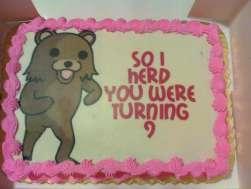 Pedo Bear Cake by 6Demonic6Kitty6