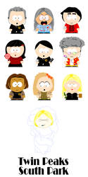 Twin Peaks South Park by LogLady