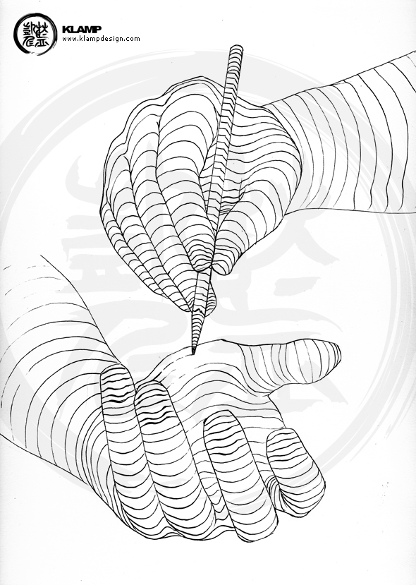 Contour Line Drawing Of Hands : Contour hands by klampdesign on deviantart