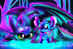 Paint along Toothless and Stitch