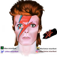 Ziggy Stardust digital portrait by blaccstardust