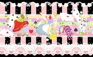Alice in Wonderland print design