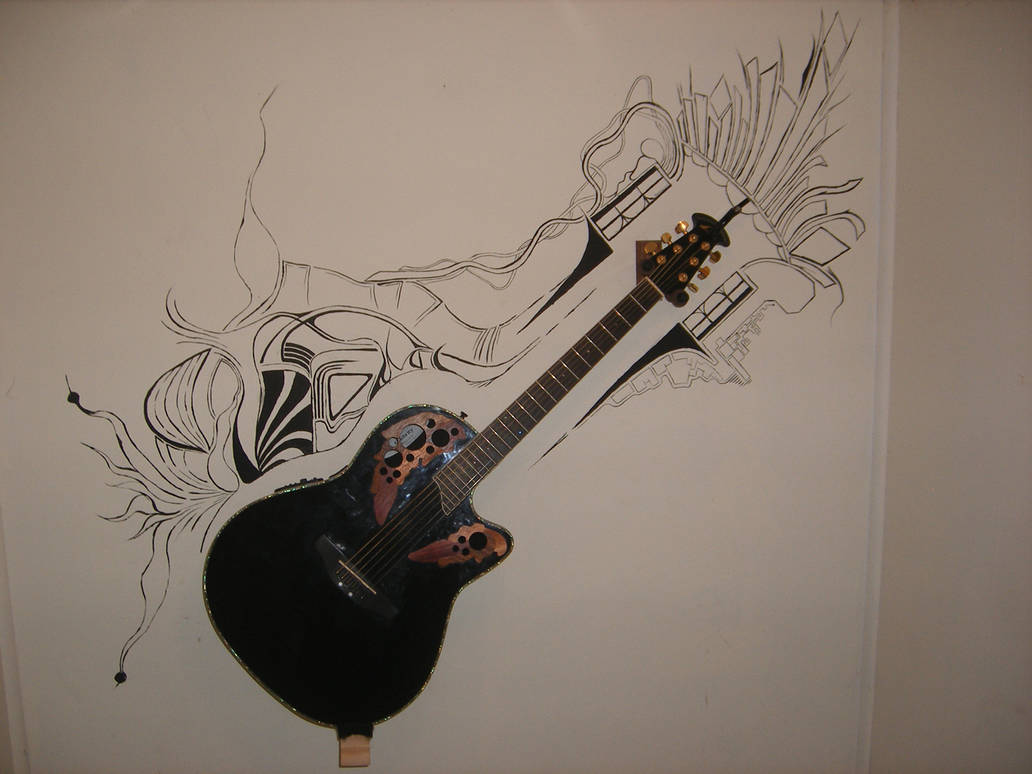 Guitar Mural By Ttcmzx On Deviantart