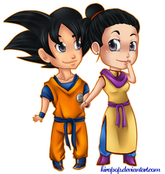 Commission: Goku and Chichi by vltraviolet