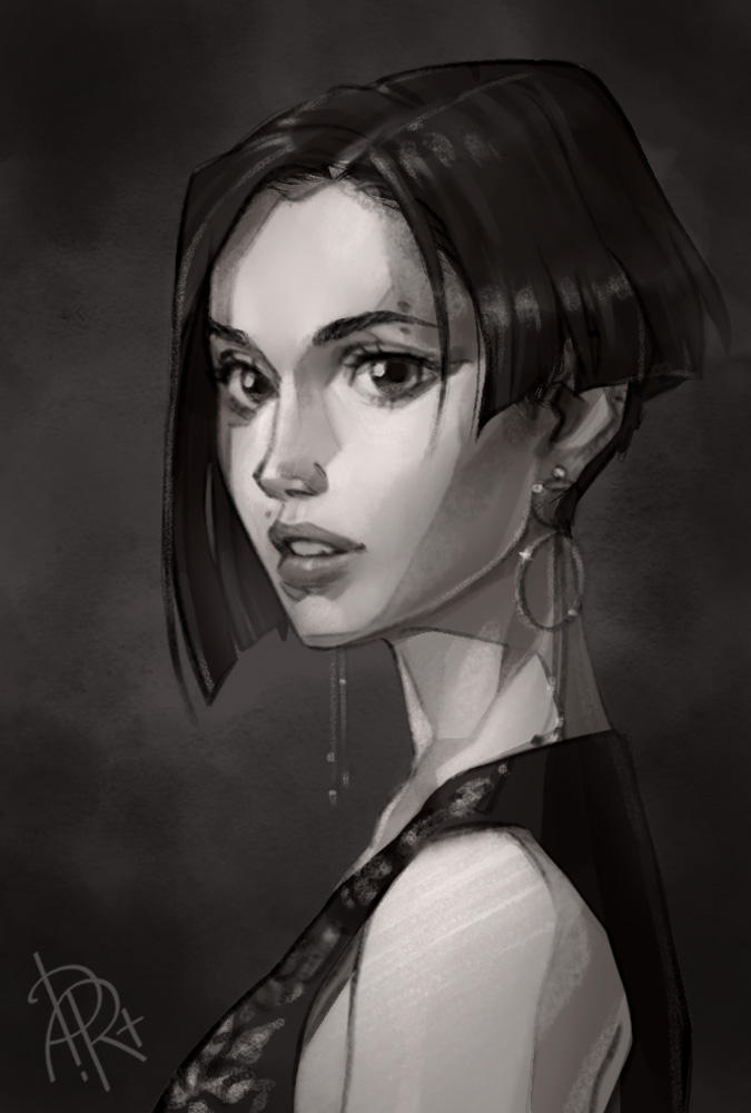 A girl from reference