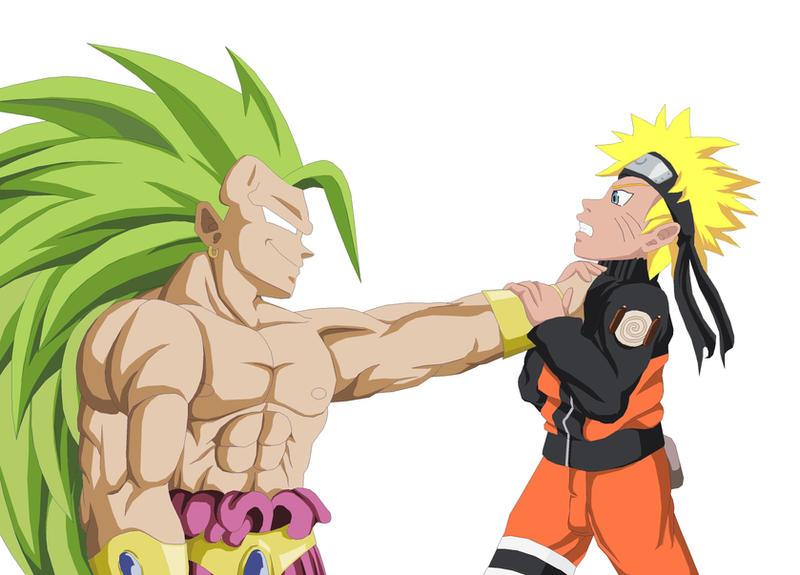 Broly SSJ3 vs Naruto by NovaSayajinGoku