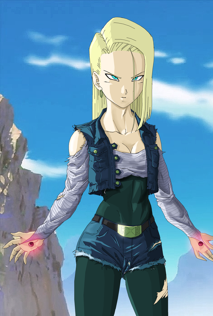 Super Android 18 ready to fight by NovaSayajinGoku