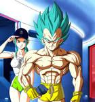 Vegeta and his Daughter a new Day to train by NovaSayajinGoku
