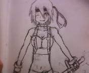 Warrior anime girl by avilon1232