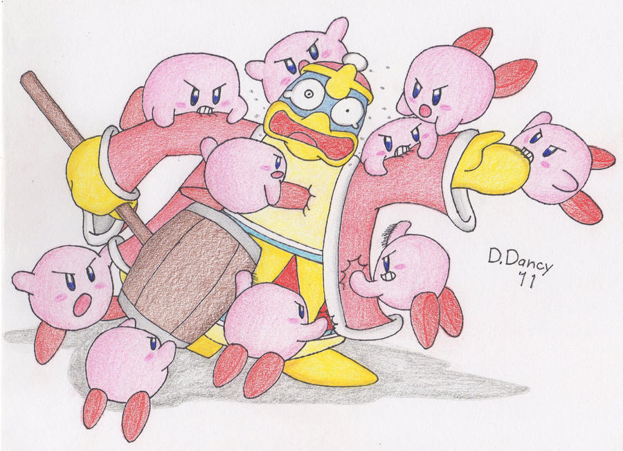Kirby Mass Attack by Dee-Artist