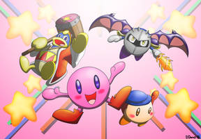 Kirby and Friends by Dee-Artist