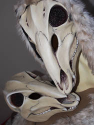 Deer Skull Mask - PAINTED by Bueshang