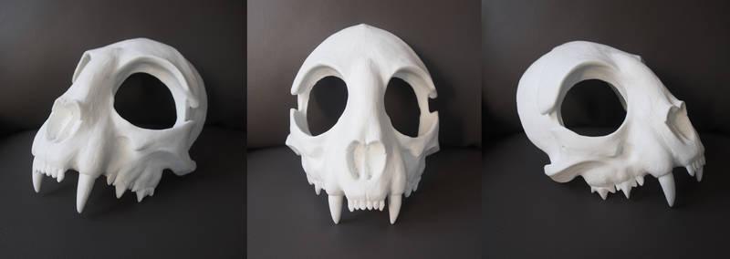 Cat Skull Mask - blank