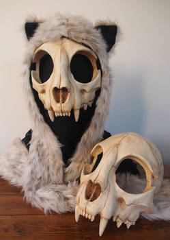 Cat Skull Mask - painted (top) - FOR SALE -