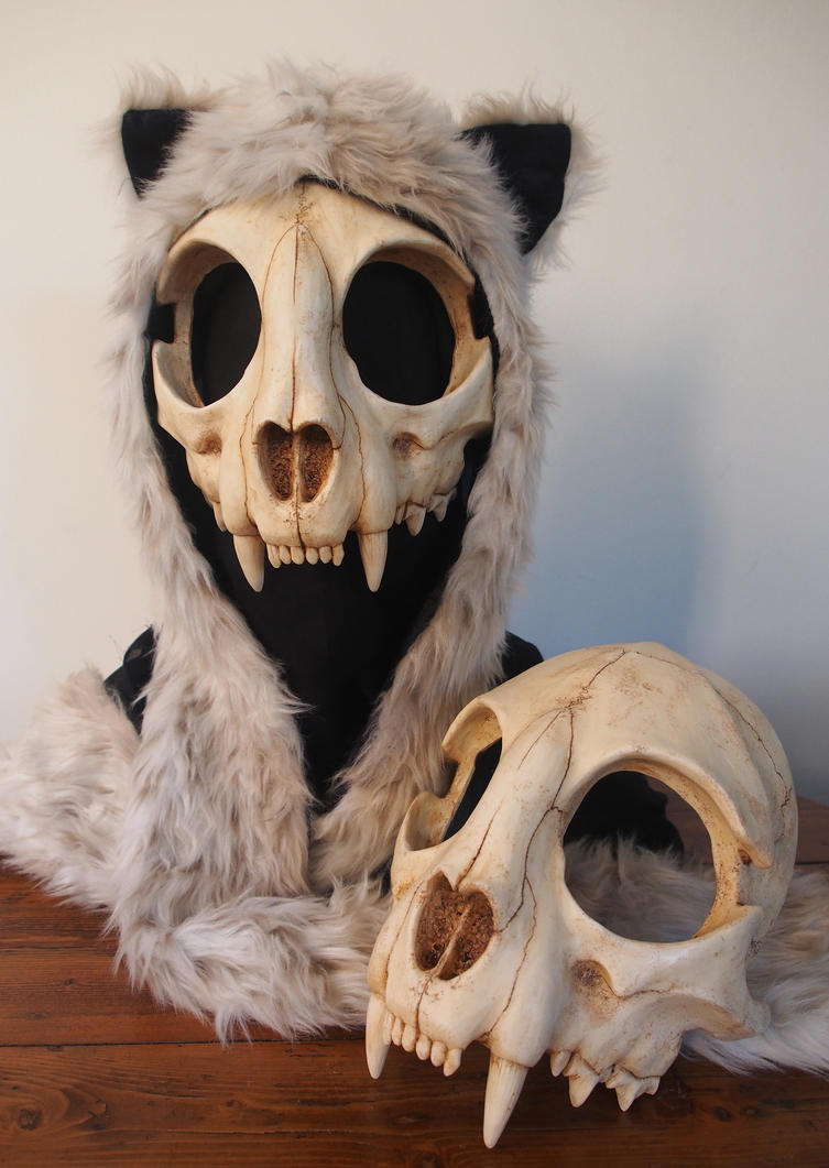 Cat Skull Mask - Painted  Top  - For Sale