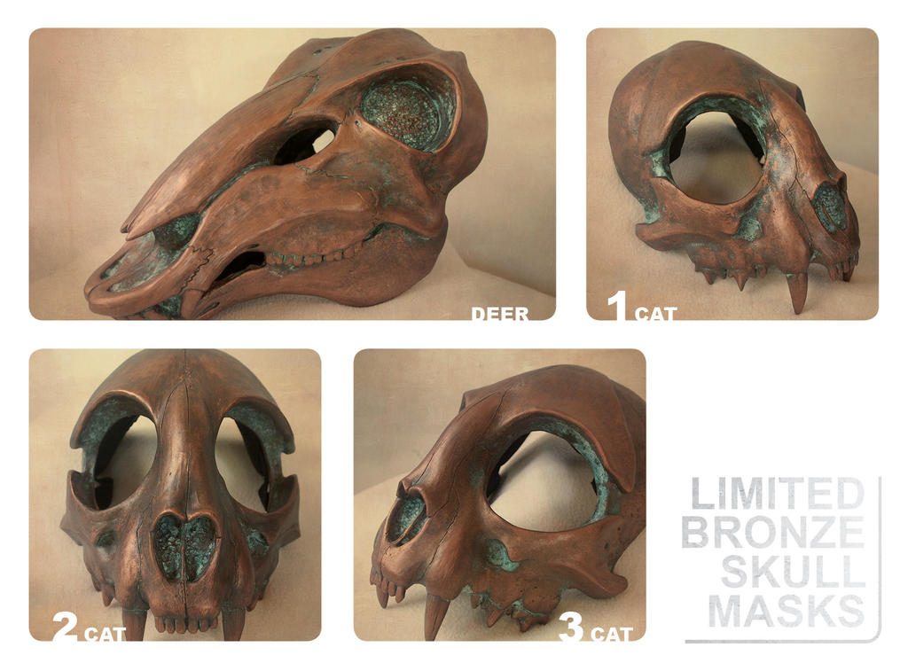 Limited Bronze Masks by Bueshang