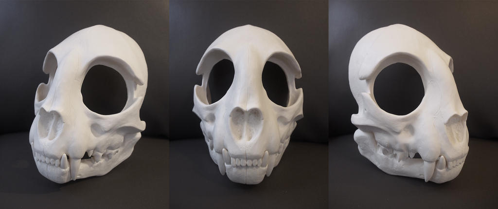 Full Cat Skull Mask - blank by Bueshang