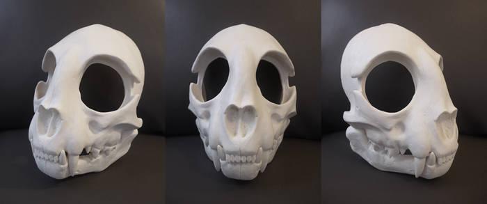 Full Cat Skull Mask - blank