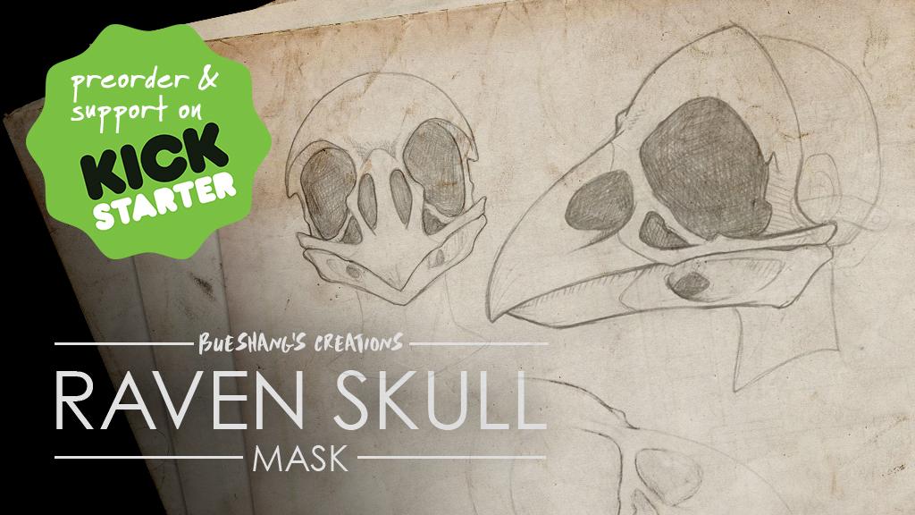 Raven Skull Mask - Kickstarter by Bueshang