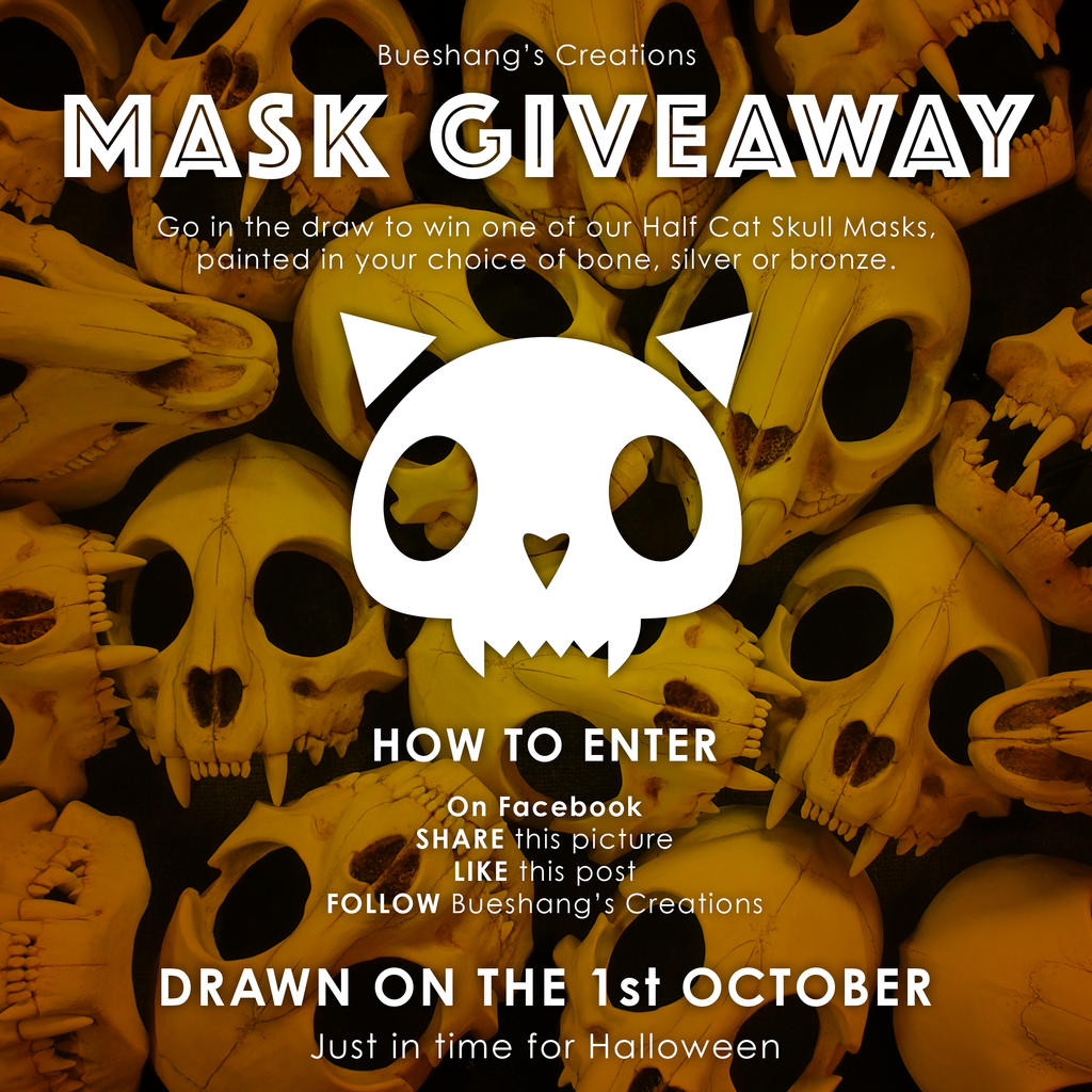Mask Giveaway!! by Bueshang