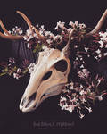 Deer mask with flowers 1