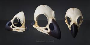 Raven skull Mask - painted by Bueshang