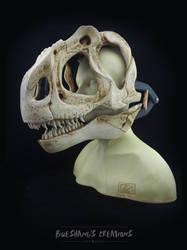 Allosaurus Skull Mask - Painted (bust) by Bueshang