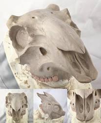 WIP Ram skull mask by Bueshang