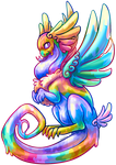 Rainbow Coatl by MaudFS