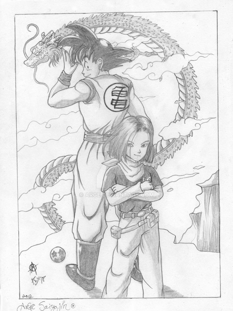 Goku pencil work by arge on deviantart
