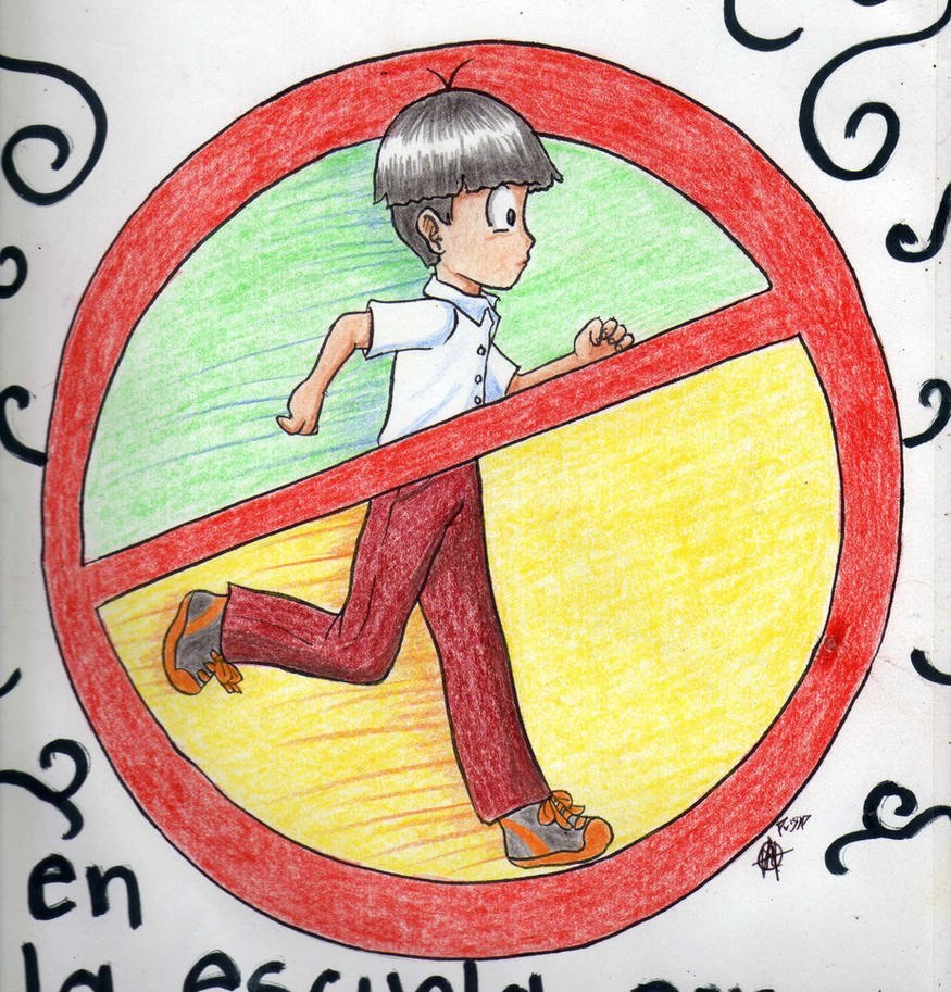 no correr en la escuela por que se pueden golpear by ArGe ...