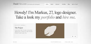 A typography perfect website template