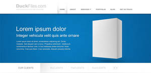 Corporate website template by DuckFiles