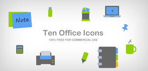 10 office icons by DuckFiles
