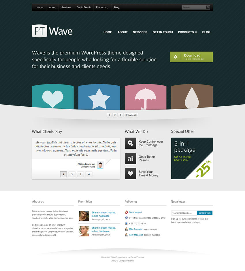 Homepage Template For Corporate Website PSD By DuckFiles On DeviantArt - Web home page template