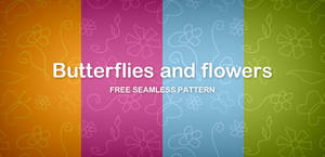 Butterflies and flowers seamless pattern