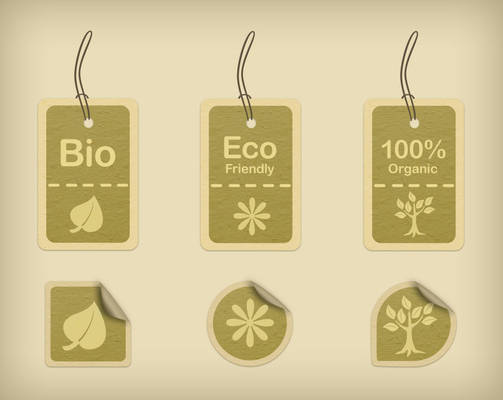 Eco-friendly tags and stickers