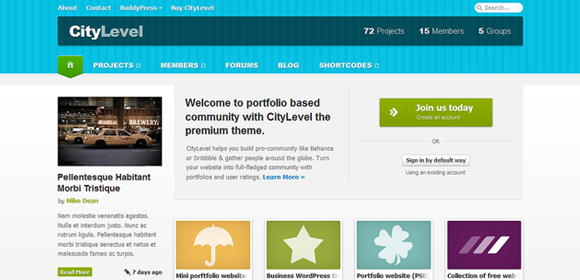 Frontpage template for community website (PSD) by DuckFiles on ...