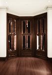 Empty Room - Bay Window -  Brown - White Walls
