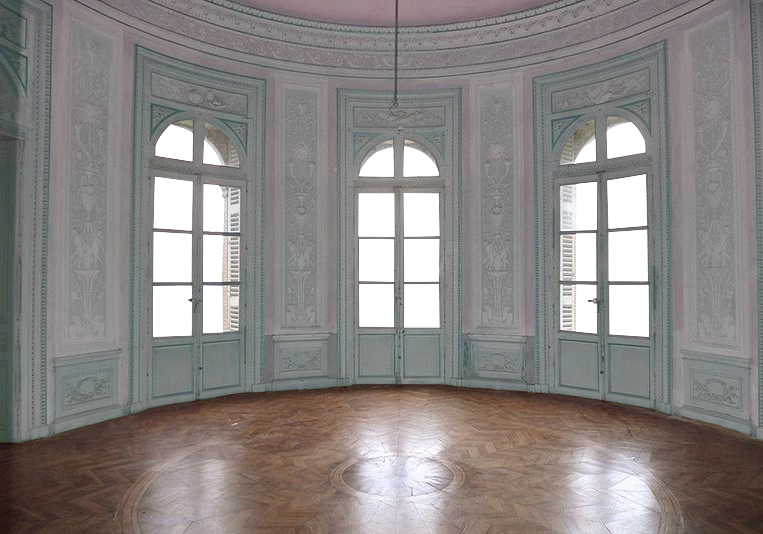 Empty Room - Castle - Pink and Light Blue 2 - Tran by