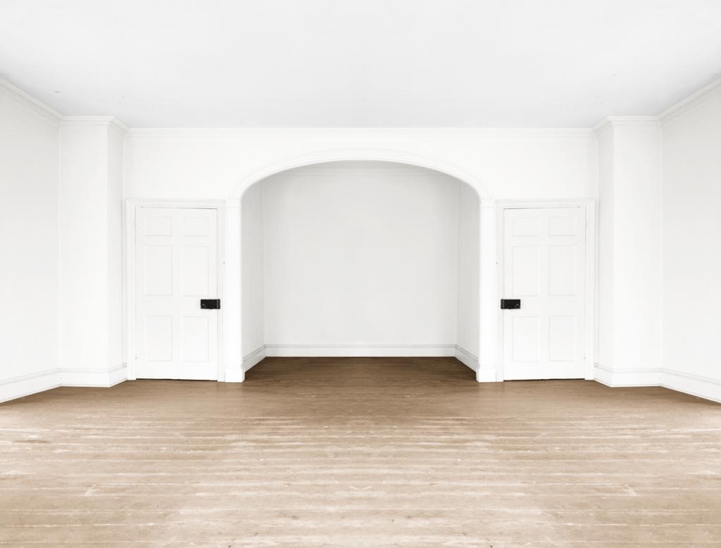 Empty Room Bedroom Light Brown Floor By Quryous On