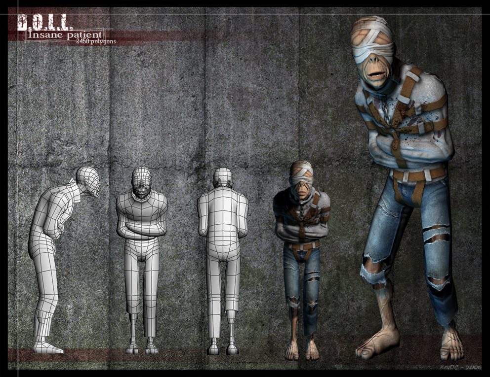 DOLL - Insane Patient by KevDC