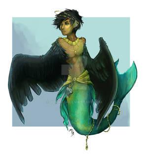 mer-harpy full paint commission