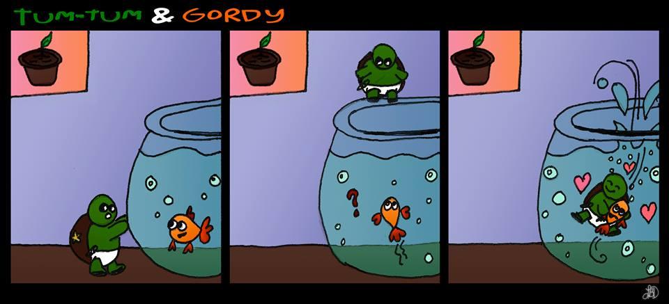 Tum-Tum and Gordy - One year by DarkIcePrincess